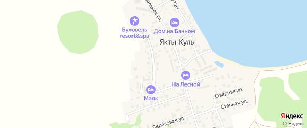 Улица Минигали Шаймуратова на карте деревни Якты-Куль с номерами домов