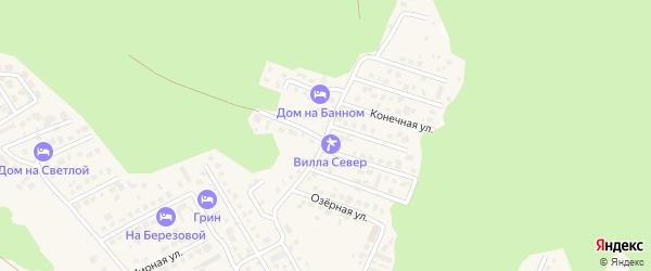 Весенняя улица на карте деревни Зеленая Поляна с номерами домов