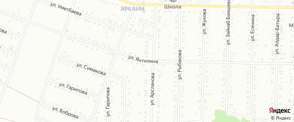 Улица Янтилина на карте Сибая с номерами домов