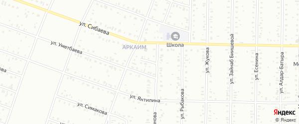 Переулок Акташ на карте Сибая с номерами домов