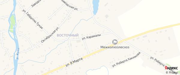 Улица Карамалы на карте села Верхние Киги с номерами домов