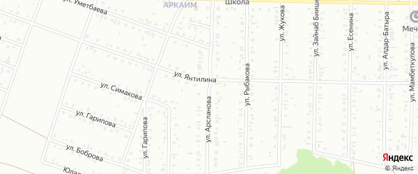 Улица Кинзи Арсланова на карте Сибая с номерами домов