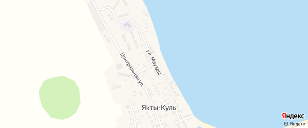 Улица Маузды на карте деревни Якты-Куль с номерами домов