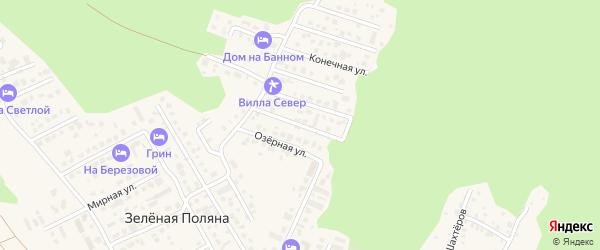 Северная улица на карте деревни Зеленая Поляна с номерами домов