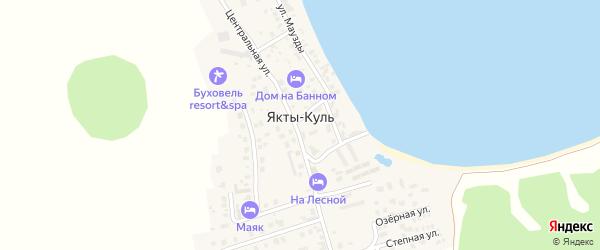 Санаторная улица на карте деревни Якты-Куль с номерами домов