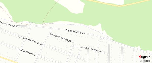 Мукасовская улица на карте Сибая с номерами домов