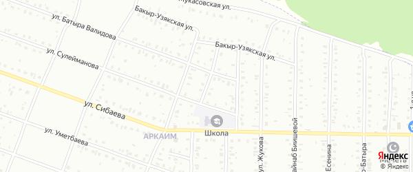 Давлетовская улица на карте Сибая с номерами домов