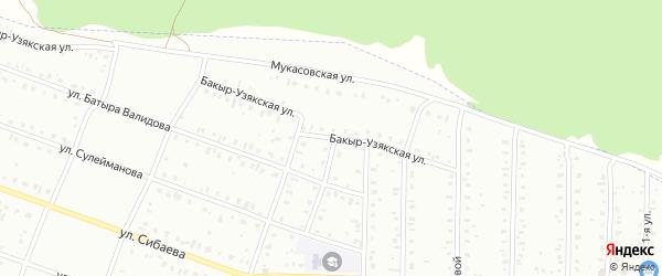 Бакыр-Узякская улица на карте Сибая с номерами домов