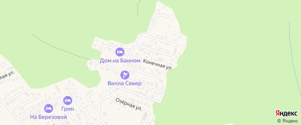 Конечная улица на карте деревни Зеленая Поляна с номерами домов