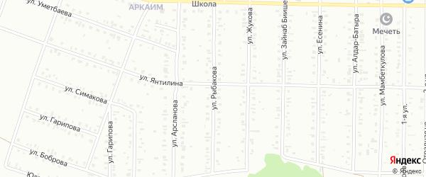 Улица Рыбакова на карте Сибая с номерами домов