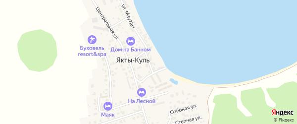 Новая улица на карте деревни Якты-Куль с номерами домов
