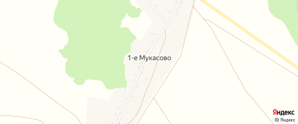 Улица Победы на карте деревни Мукасова 1-е с номерами домов