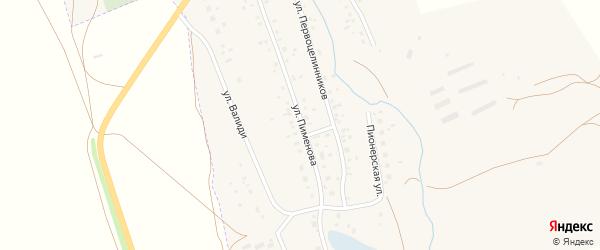 Улица Пименова на карте села Ургазы с номерами домов