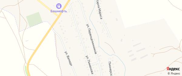 Улица Первоцелинников на карте села Ургазы с номерами домов