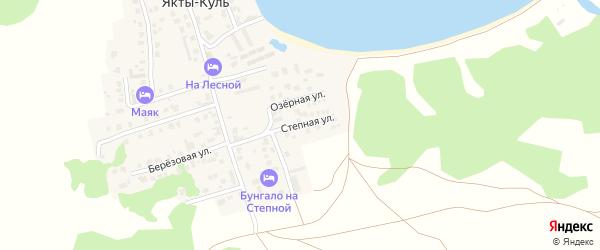 Степная улица на карте деревни Якты-Куль с номерами домов