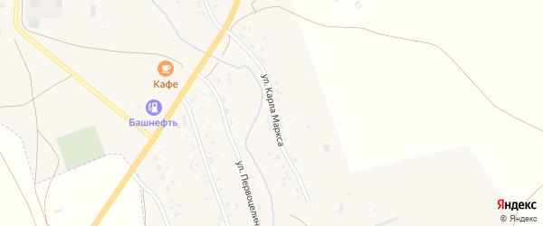 Улица К.Маркса на карте села Ургазы с номерами домов