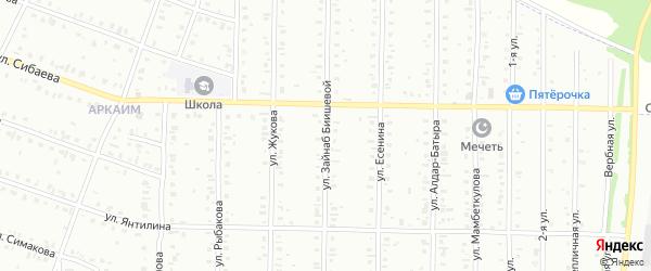 Улица Биишевой на карте Сибая с номерами домов