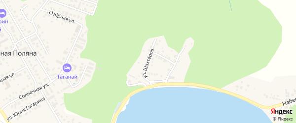 Улица Шахтеров на карте деревни Зеленая Поляна с номерами домов