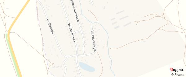 Пионерская улица на карте села Ургазы с номерами домов