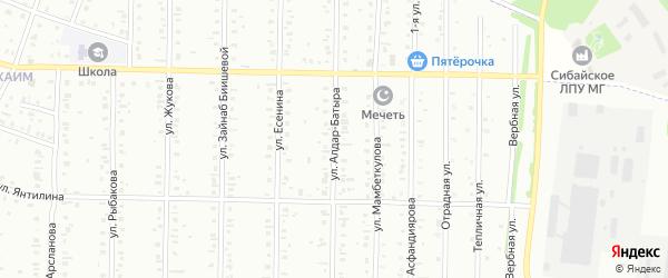 Улица Алдар батыра на карте Сибая с номерами домов