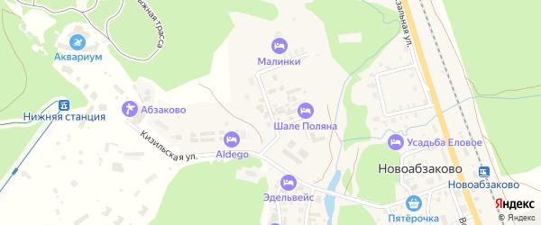 Луговая улица на карте села Новоабзаково с номерами домов