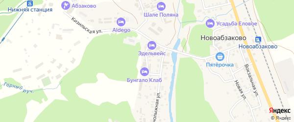Горный проезд на карте села Новоабзаково с номерами домов