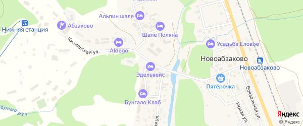 Кизильская улица на карте села Новоабзаково с номерами домов