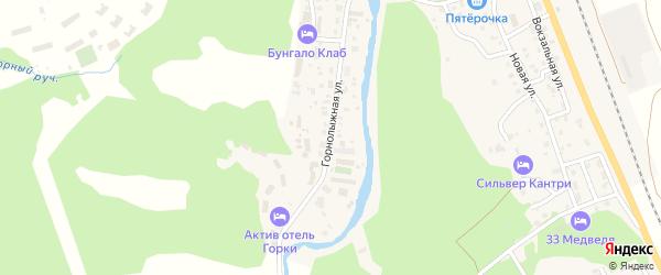 Горнолыжная улица на карте села Новоабзаково с номерами домов