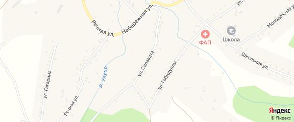 Улица Салавата на карте села Терменево с номерами домов