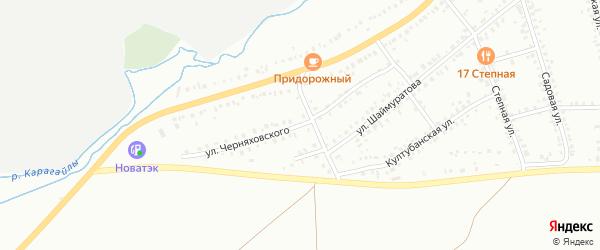 Улица Черняховского на карте Сибая с номерами домов