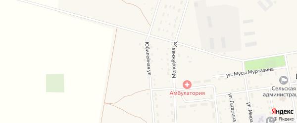 Юбилейная улица на карте Целинного села с номерами домов