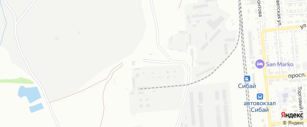Улица Нефтебаза на карте Сибая с номерами домов
