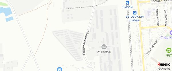 Привокзальная улица на карте Сибая с номерами домов