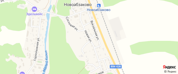 Новая улица на карте села Новоабзаково с номерами домов
