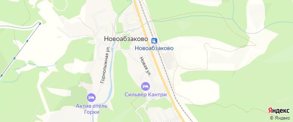 Карта села Новоабзаково в Башкортостане с улицами и номерами домов