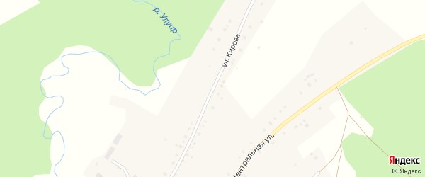 Улица Кирова на карте села Терменево с номерами домов
