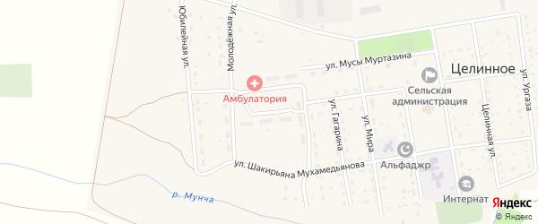 Улица Салавата Юлаева на карте Целинного села с номерами домов