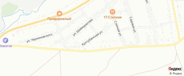Култубанская улица на карте Сибая с номерами домов