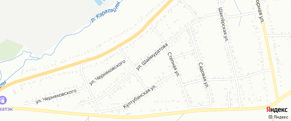 Улица Шаймуратова на карте Сибая с номерами домов