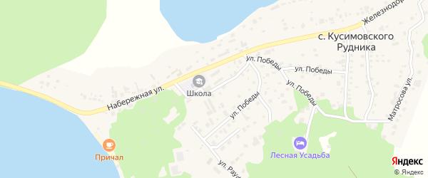 Школьная улица на карте села Кусимовского рудника с номерами домов