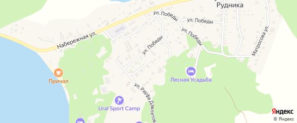 Горная улица на карте села Кусимовского рудника с номерами домов
