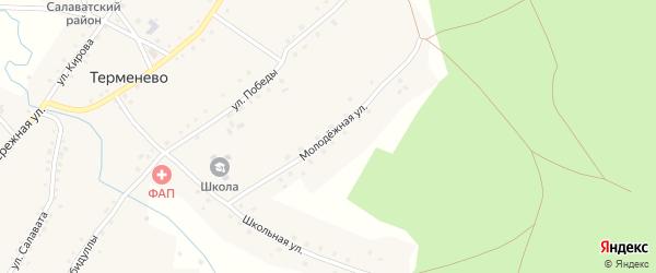 Молодежная улица на карте села Терменево с номерами домов