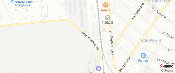 Элеваторная улица на карте Сибая с номерами домов