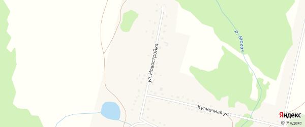 Улица Новостройка на карте деревни Тупаково с номерами домов