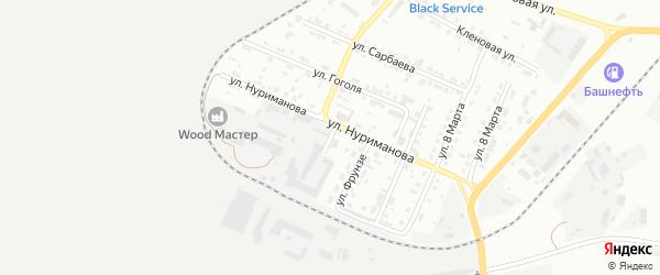 Улица Тагирова на карте Сибая с номерами домов
