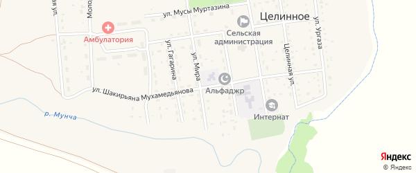 Улица Шакирьяна Мухамедьянова на карте Целинного села с номерами домов