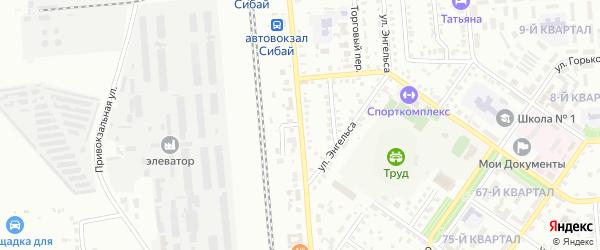 Улица Лермонтова на карте Сибая с номерами домов