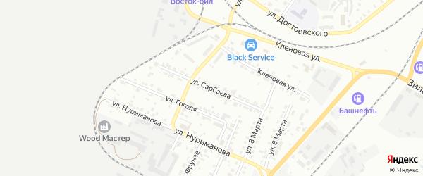 Улица Сарбаева на карте Сибая с номерами домов