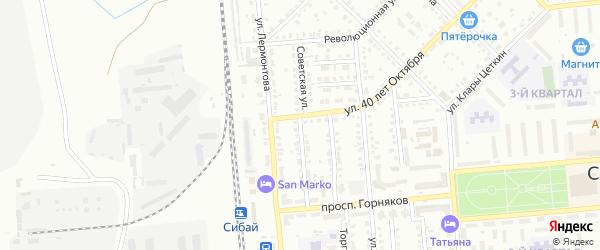 Советская улица на карте Сибая с номерами домов