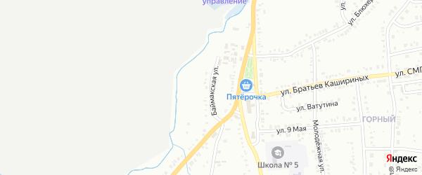 Баймакская улица на карте Сибая с номерами домов